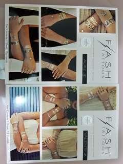 (包平郵) 平!減!swarovski flash tattoos / 紋身貼紙 /party