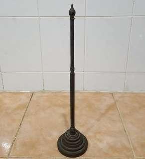 Antique brass mini flag pole