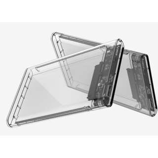 ORICO 2.5 inch Transparent USB3.0 Hard Drive Enclosure SATA to usb Tool free installation, easy to use
