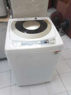 Toshiba 10kg fully automatic washing machine 95%ok Good condition one month warntey 01133530275 call me WhatsApp