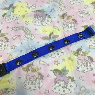 日本 ne-net 寶藍色 布 膠啪扣 手帶 手繩