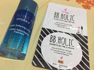 Artistry Hydra V Fresh Softening Lotion and Iwhite Bb Cream