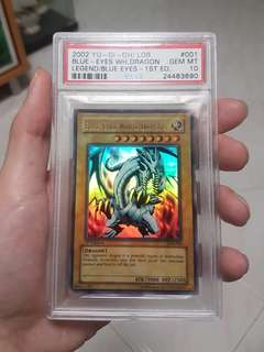 PSA 10 Blue-Eyes White Dragon 1st Edition LOB-001
