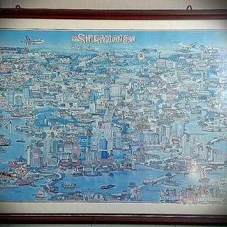 Singapore Map Cartoon Style