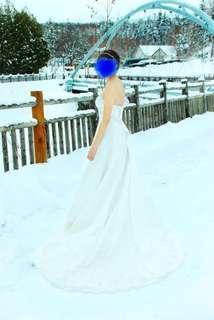 Wedding dress 小拖尾婚紗