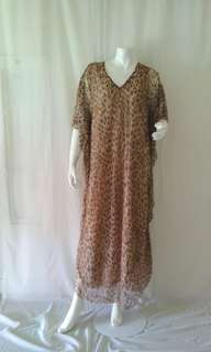 leopard kaftan dress