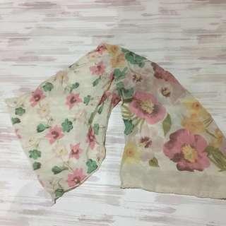 pastel floral scarf