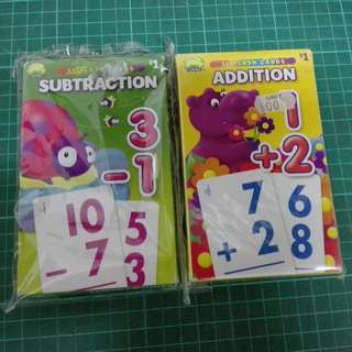 (RA 17) Preschool Maths Learning Flash Cards x 2