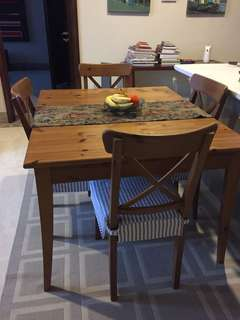IKEA dining table plus four chairs