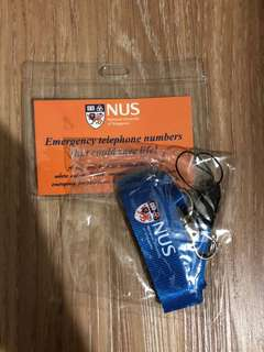 NUS Lanyard and Card holder