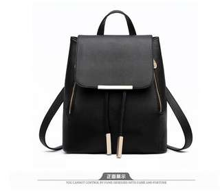 Korean Simple Casual Leather Backpack