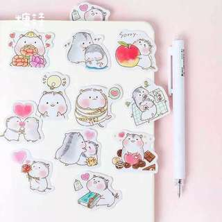 Greedy Hamster Stickers