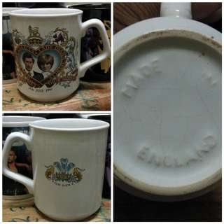 H.R.H Prince Charles and Lady Diana mug