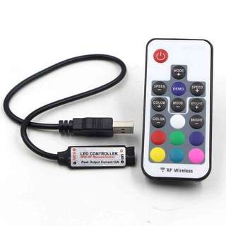 17 KEYS USB RF CONTROLLER FOR RGB 5050 3528 RGB LED STRIP LIGHT DC5V