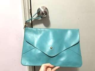信封包 信封袋 藍綠色
