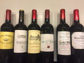 6 bottles of great Bordeaux wines at reasonable price!