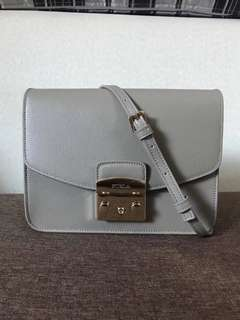 Furla Small Metropolis Crossbody - grey