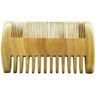 Dual Sides Coarse and Fine Tooth Wooden Pocket Beard and Mustache Comb