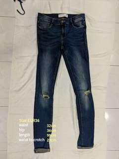 Zara Skinny Torn Jeans