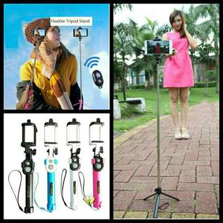 Monopod & Tripod Bluetooth /tongsis Bluetooth