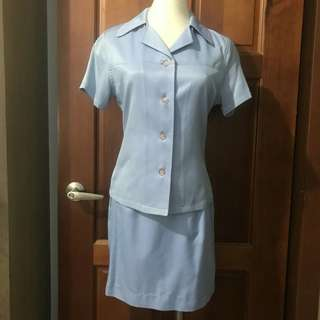 🚚 (二手)T-parts 藍色套裝~上班族很適合喔!