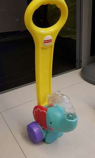 Fisher price pop and push elephant walker