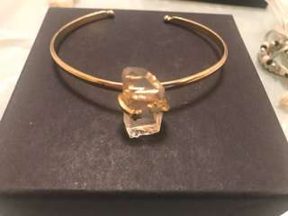 Clear crystal bangle