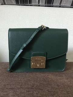 Furla Small Metropolis Crossbody - dark green