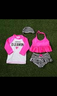 Korean swim suit 4pcs