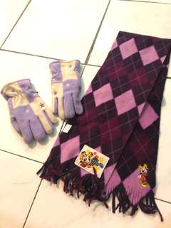 Winter insulative gloves and scarfs