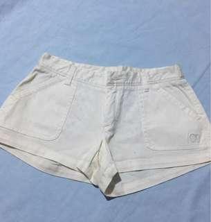 white comfy shorts