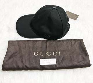 NEW!!! GUCCI MEN CAP IN BLACK SIZE L