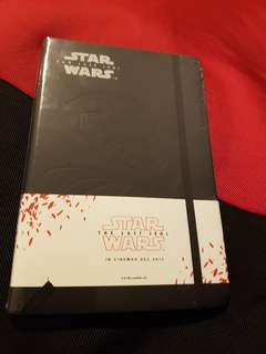 Star Wars notebook with First Order Storm Trooper embossed on cover