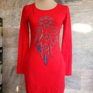 Longsleeve Red dress