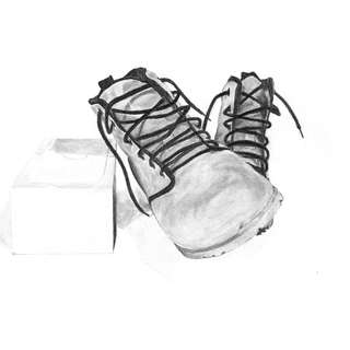 Footwear Pencil Drawing