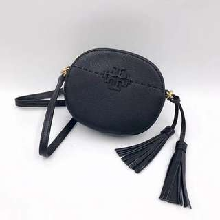 Tory Burch McGraw Round Crossbody - black