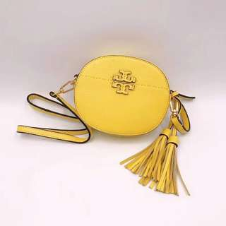 Tory Burch McGraw Round Crossbody - yellow