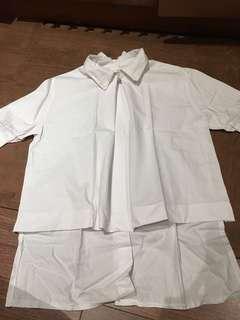 white top kemeja putih s