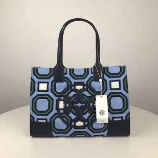 Tory Burch Ella Mini Printed Tote - blue