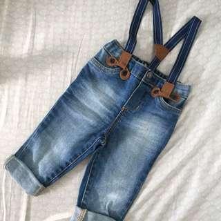 Baby Maong w/ Suspender