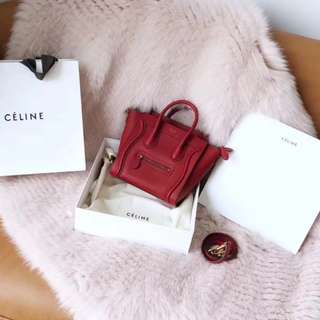 Celine Nano Drummed Leather Luggage
