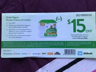 Similac Organic Stage 2 SGD 15 Voucher