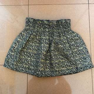 Semi wool jacquard skirt