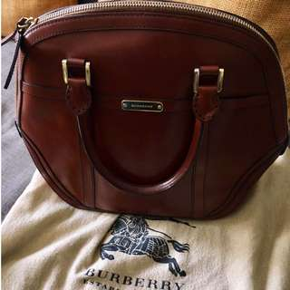 Authentic Burberry Genuine Leather Handbag