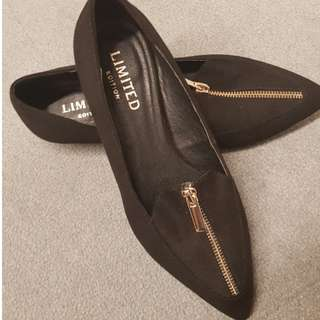 Marks & Spencer black flats