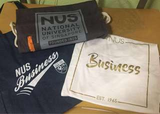 NUS Brand New Limited Edition Tee Shirt & Bags