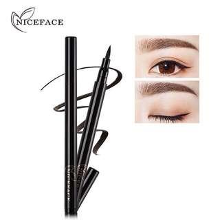 🦋NICEFACE Smooth Ultra Black Quick-dry Liquid Eyeliner Pen Long Lasting Eye Liner🦋
