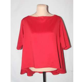 Formal Red BLouse