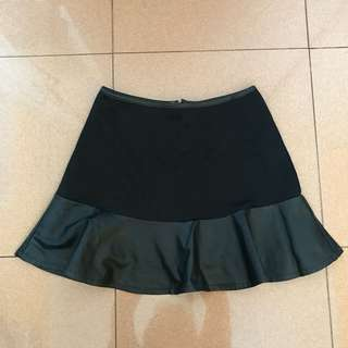 Mermaid leather skirt
