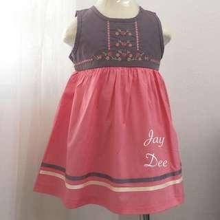 ❤️Cotton Dress (Greyish Pink Floral)❤️